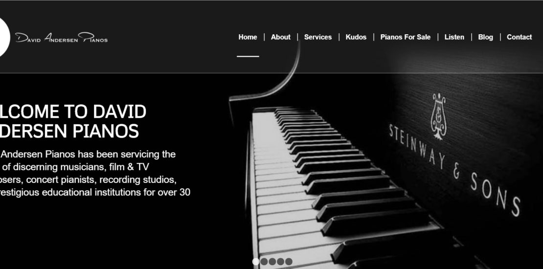 David Andersen Piano Website Creation